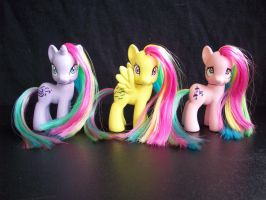G1 to G4 Rainbow Ponies Part 1 by KimmersCustoms