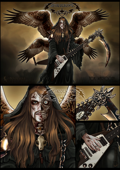Metalocalypse -Toki, the messenger of death - by vtophya