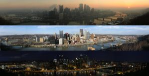 Pittsburgh Skyline Cycle by MaillerPhong