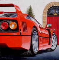 Ferrari F 40 in 1:1 by pitzersart