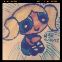 Napkin Art #54 - Bubbles - Powerpuff Girls by PeterParkerPA