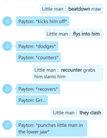 Little man  vs Payton by Justicedog337