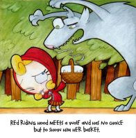 red riding hood story board 2 by brittastik