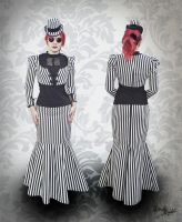 My new Butcher stripes dress by MADmoiselleMeli