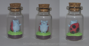 Catbug in a bottle by Blindfaith-boo