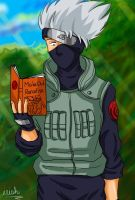 Kakashi reading by irishgirl982