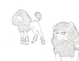 Poodle character by Prepare-Your-Bladder