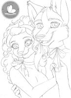 Happy Holidays from Night and Mhina (Pencils) by KittMouri