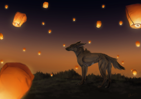 Flying Wishes by BlackFireDeath