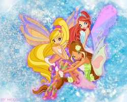 Winx Club official Harmonix transformation by magicalcolourofwinx