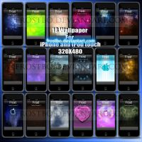 iPod Touch  And iPhone Wallpaper Pack by FrostBo