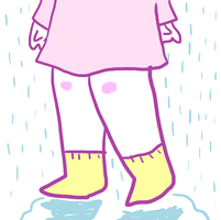 Rainy pastel socks by Quivieres