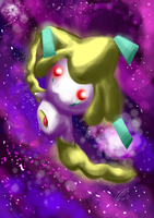 Red Eyes White Jirachi by cyanbunny