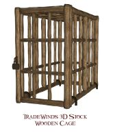 TW3D Wooden Cage by TW3DSTOCK