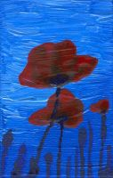 Poppies in the Sky by ausrejurke