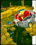 Eggman in the Labyrinth Zone? by gsilverfish