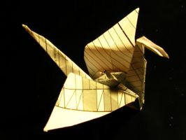 First Paper Crane by Formel
