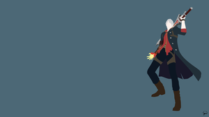 Nero (Devil May Cry 4) Minimalist Wallpaper by greenmapple17