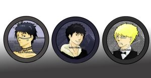 Badges - Bleach Durarara by Amy-Luna