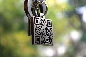 stainless steel QR code tag by Dimmulane