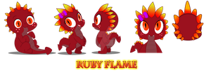 MLP: FIM - Ruby Flame Character Sheet by DemonKaizoku