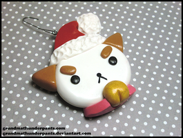 Puppycat Ornament by GrandmaThunderpants