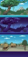 SideScroller Backgrounds by DreamerWhit