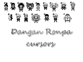 Dangan Ronpa Cursors by bloomsama