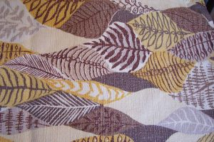 Bark cloth fabric leaves by paintresseye