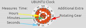 Rainmeter Ubuntu Clock by The1StraightShooter
