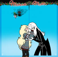 Mistletoe Meme: The Snake and the Mouse by MissThunderkin