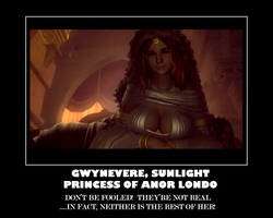 Gwynevere is FAKE motivator by InfernalOne666