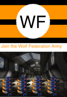 Wolf Federation recruitment poster by Screamingmaddog5521