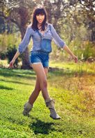 Michelle, one foot forward by Kama-Photography