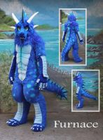 Fuzzy Blue Dragon by LilleahWest
