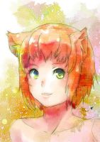 Red cat by bloodink6