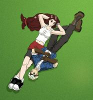 Cid and Tifa Relaxing by Tarafied
