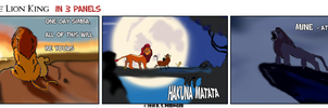 The Lion King - in 3 Panels by Cilmeron