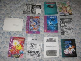 A bunch of Game Gear manuals by T95Master