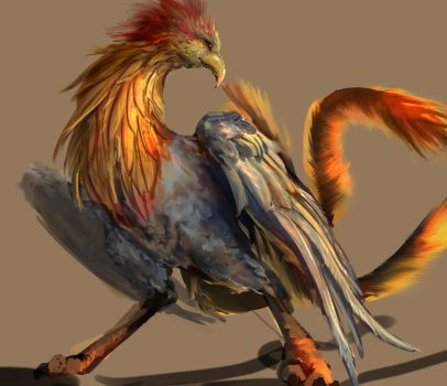 sketch of the day - rooster by Emoonya