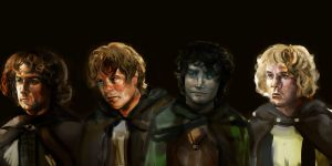 skeptical hobbits (?) by 3lIS3
