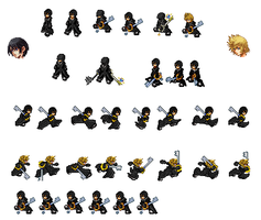 Xion Roxas work samples by OmegaSlaserdude-EXE
