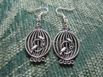 BirdCage Silver Earrings by PanjackHana