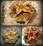 Wooden boxes with polymer clay cover by Intellexia