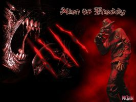 Alien vs Freddy 1 by Mackain