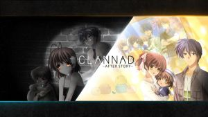 Wallpaper Clannad sad and Happy life by Adouken94
