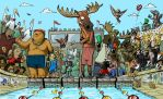 Animal Swimming Contest by Tuhis