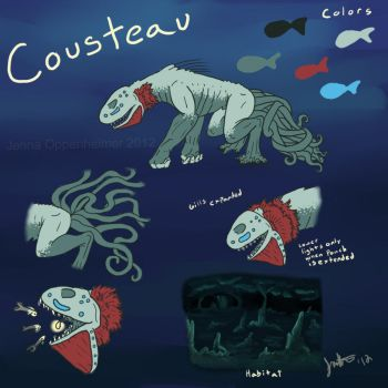 Cousteau ref sheet by Boarfeathers