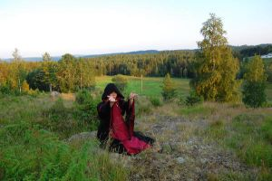 Forest girl stock 2 by Ulvar-Stock