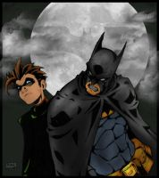 Batman and Robin by commanderlewis